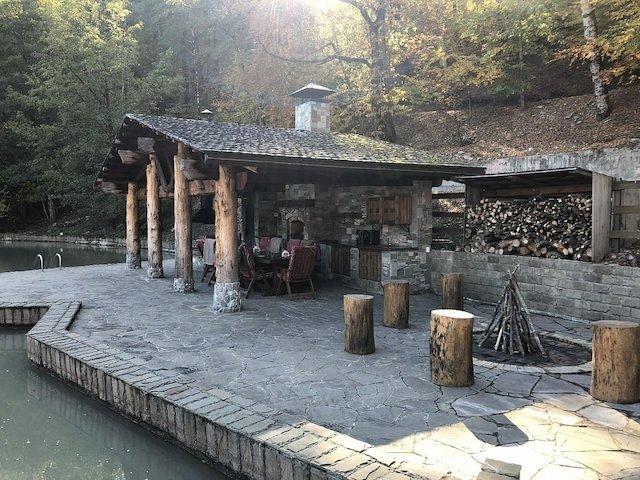 рыбалка в Сочи, баня на дровах