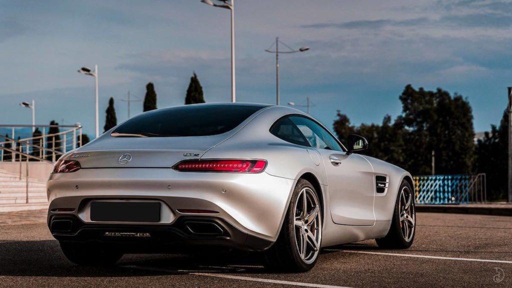Mercedes AMG GTS вид сзади фото цена