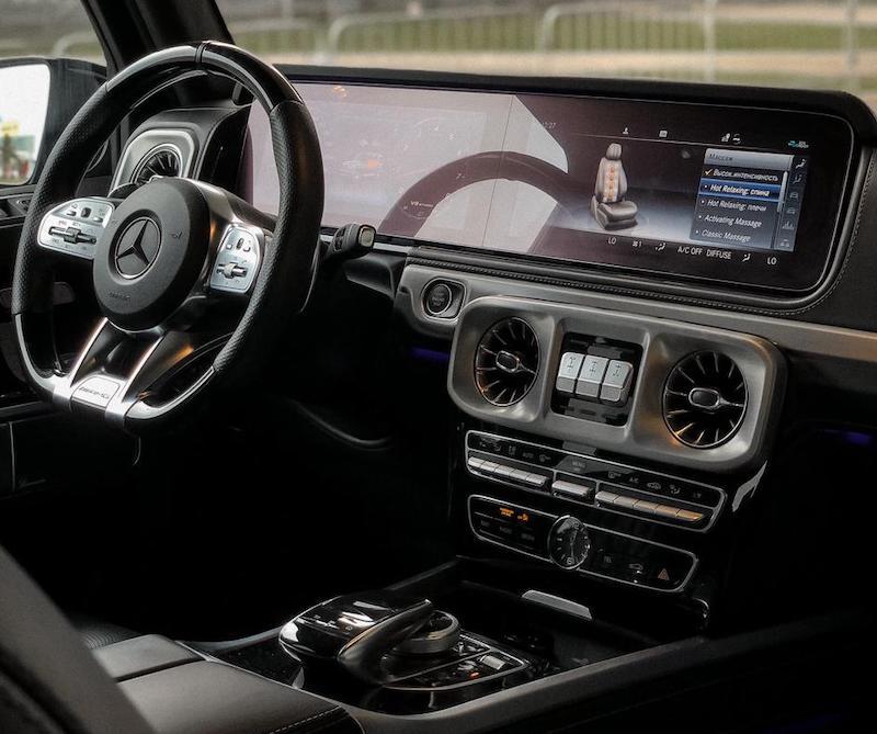 фото салона авто Мерседес G63 AMG